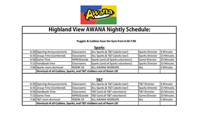 AWANA schedule larger size