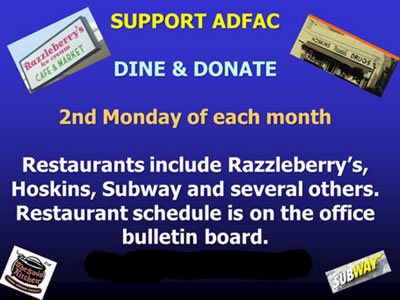ADFAC dine and donate