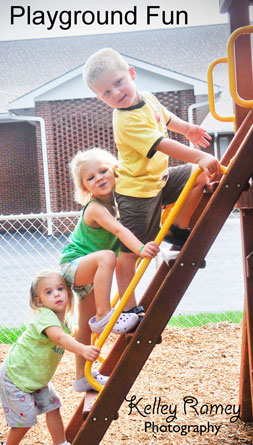kids climbing ladder